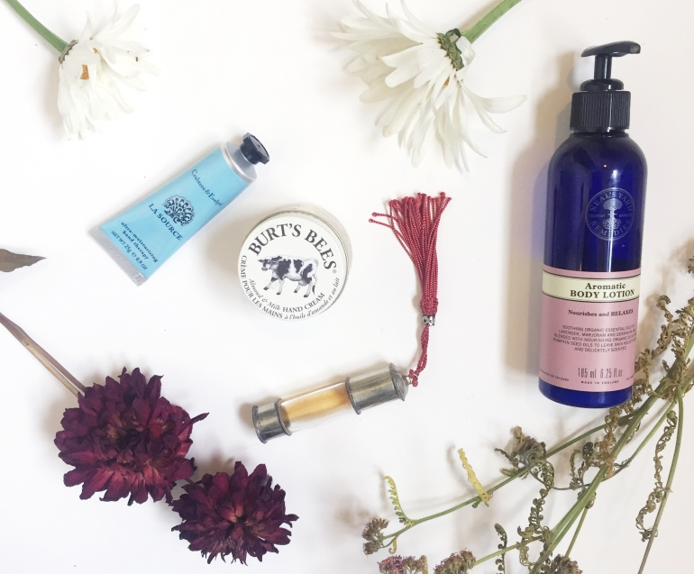 natural beauty flatlay