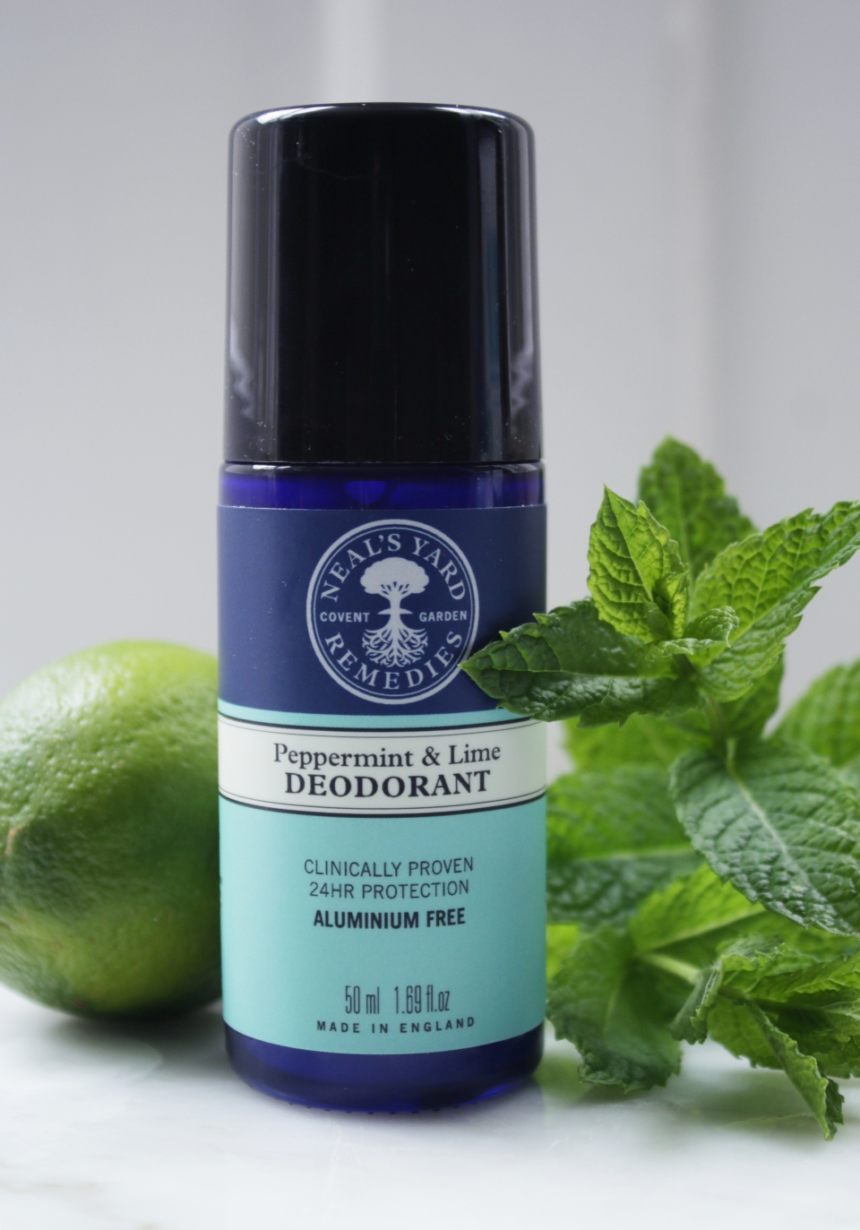 Neal's Yard Remedies peppermint and lime deodorant review