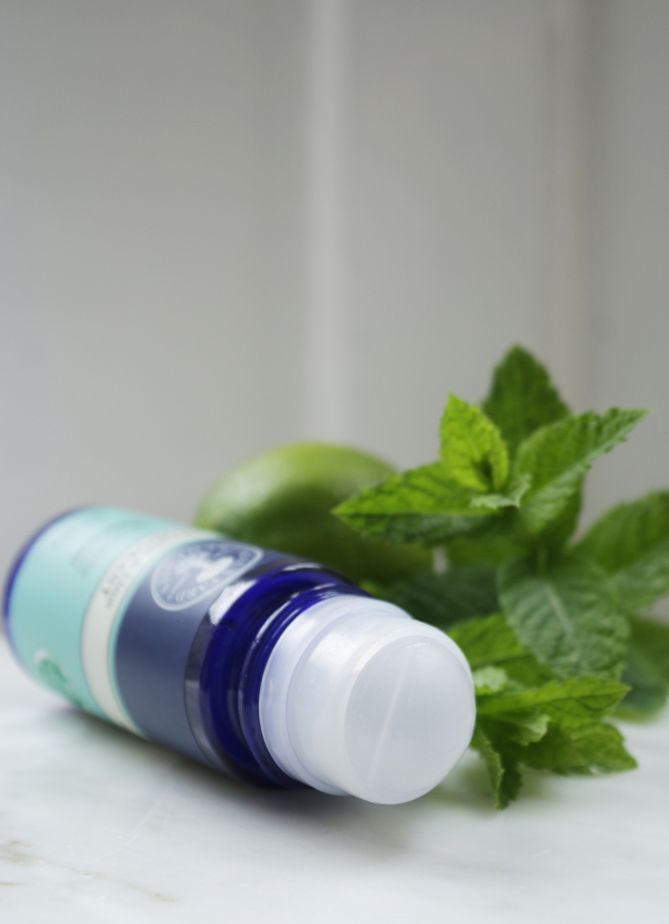 Neal's Yard Remedies peppermint and lime deodorant open top