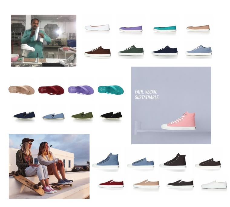 ethletic collage sustainable shoes